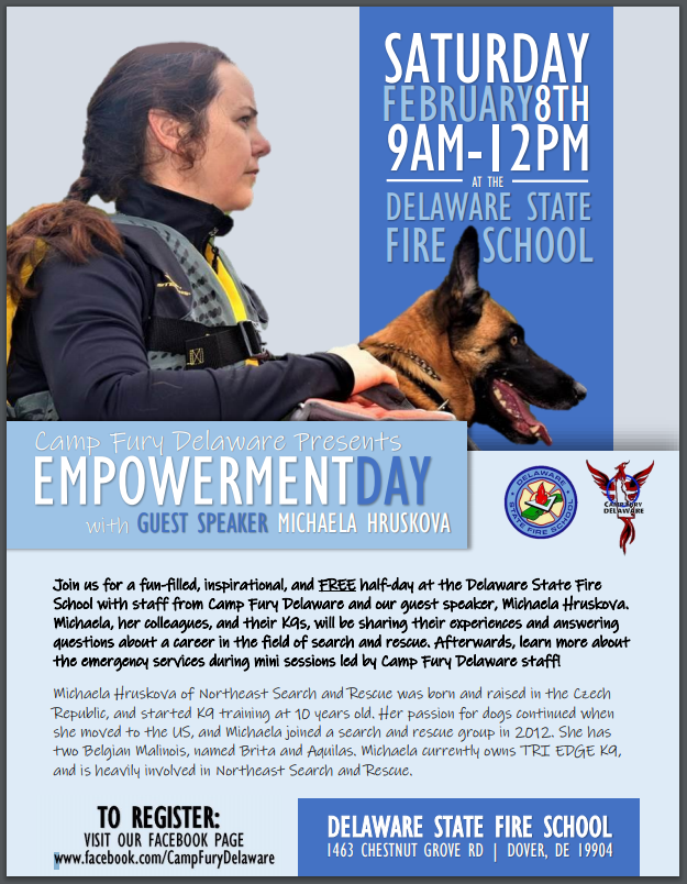Image of flyer for Camp Fury Empowerment Day